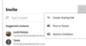 Create a sharing link