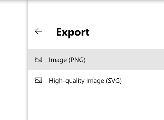 Format on export