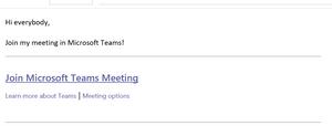 Settings for a Microsoft Teams meetings