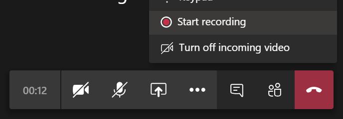 Turn on recording