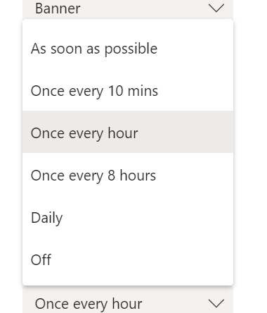 How often you should recieve notification email
