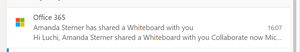 Mail about shared whiteboard