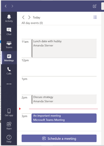 Meeting overview in Microsoft Teams