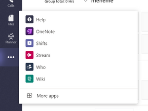 More apps in Microsoft Teams