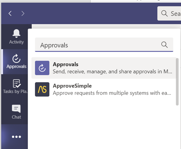 New Approvals app