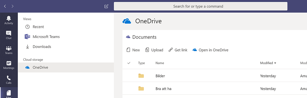 Your files in Microsoft Teams