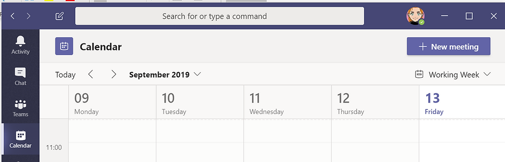 Schedule from Microsoft Teams