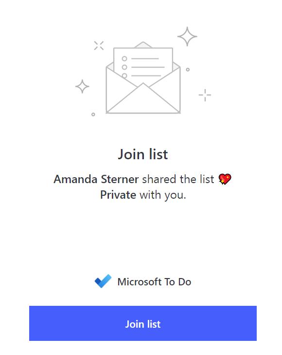 Join a shared list