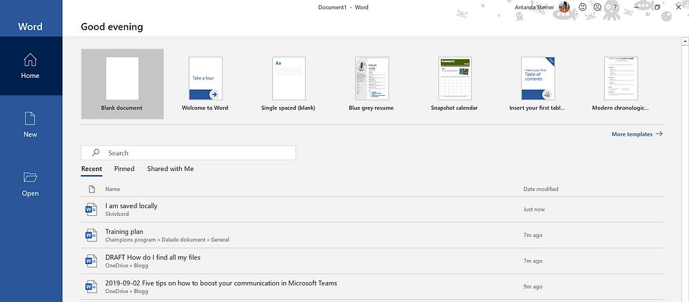 Finding files in the desktopp app