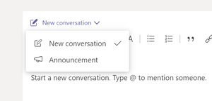 Choose between new conversation and announcement