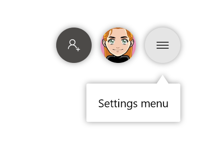 Button for settings menu