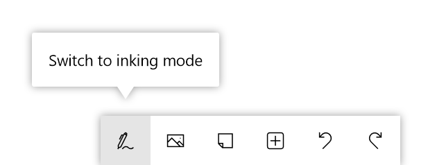 Button for ink mode