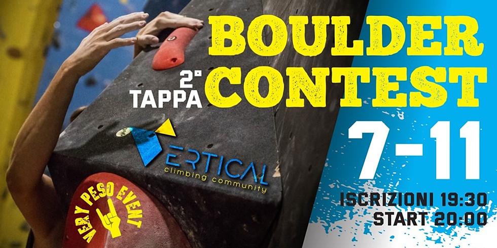 BOULDER CONTEST 2° TAPPA