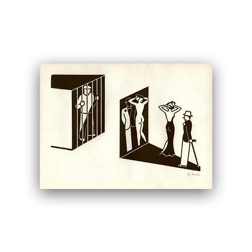 Gerd Arntz (1900-1988): Bespiegelung I