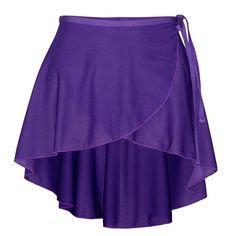 Starlite ISTD Polycrepe Phillipa Purple Wrap Skirt