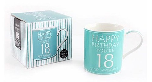 Awesome You're 18 Boxed Mug