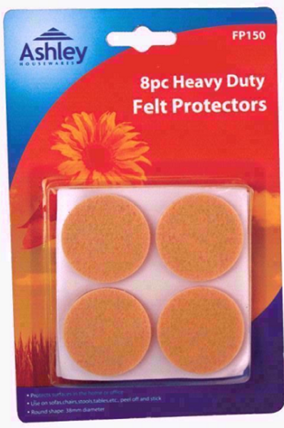 Heavy Duty Felt Protectors Self-adhesive, simply peel and stick, use in the home or office on sofas, chairs, stools, tables