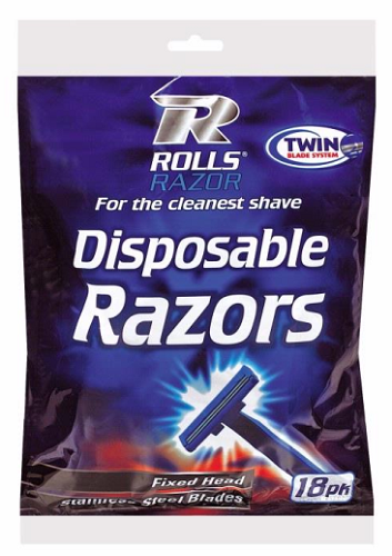 Twin Blade Disposable Razors 18 Pack