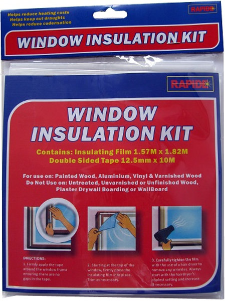 Window Insulation Kit helps reduce heating costs, keep out draughts, reduce condensation on windows and doors during winter