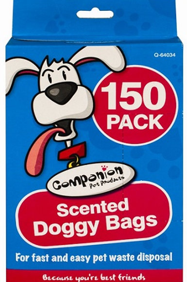These scented doggy poo bags offer fast and easy pet waste disposal when out and about or at home, in the garden