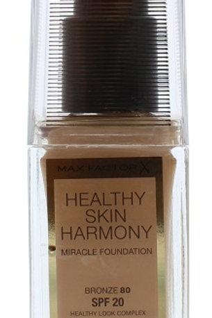 Healthy Skin Harmony Miracle Foundation SPF 20 - 80 Bronze by Max Factor 30ml.  The Max Factor Healthy Skin Harmony base