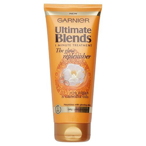Garnier Ultimate Blends The Glow Replenisher with argan andcamellia oils tailor-made for dry, dull hair