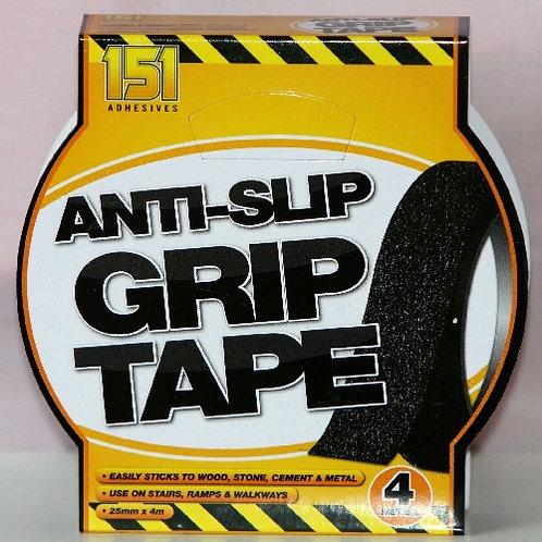Anti-Slip Grip Tape easily sticks to Wood, Stone, Cement and Metal, Use on Stairs, Ramps and Walkways