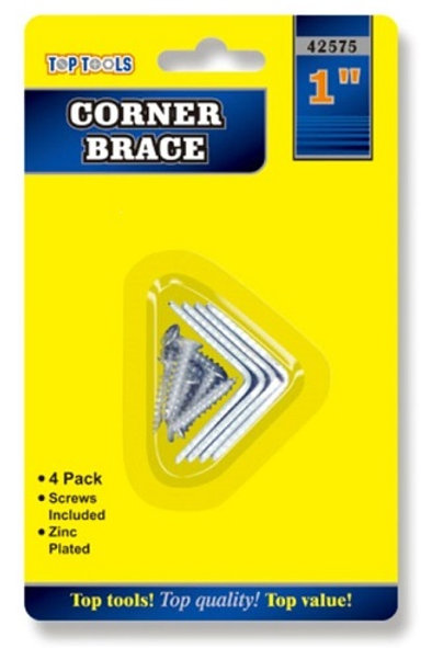 25mm Corner Braces ideal for strengthening corners on your woodworking project.