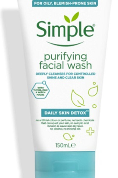 Simple Daily Skin Detox Purifying Facial Wash is your new secret weapon for fighting clogged pores and oily skin