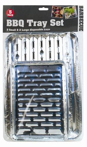BBQ Tray Set - 5 Pack