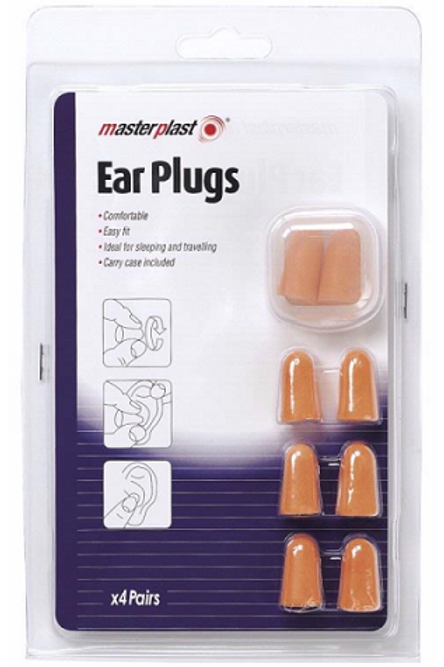 Ear Plugs easy to mould into ears and will remain comfortable, ideal for sleeping and travelling or blocking out noise