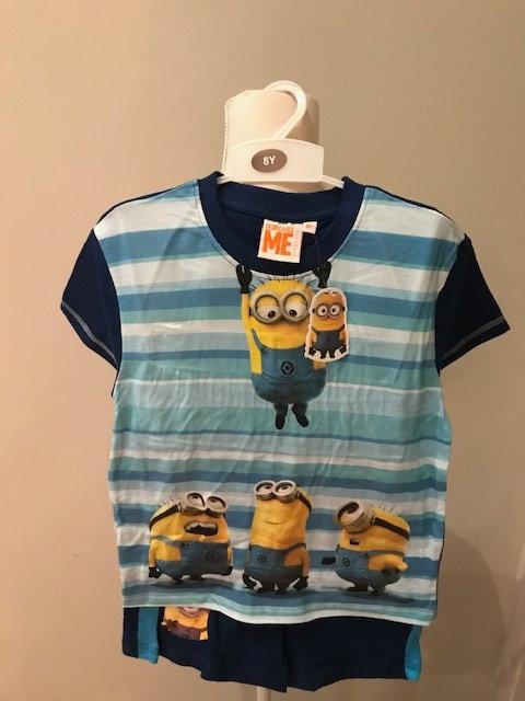 Despicable Me Minion Boys Shorts and T Shirt
