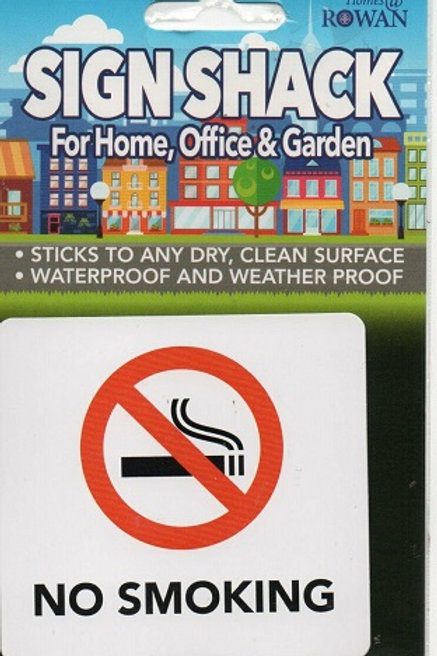 No Smoking Sticker for use in the home, office and vehicles
