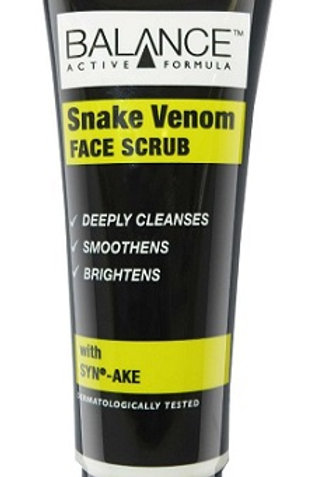 Balance Active Formula Snake Venom Facial Scrub deeply cleanses, smoothens and brightens all skin types