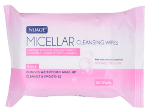 Micellar soft cleansing wipes remove waterproof make up, cleanses and soothes