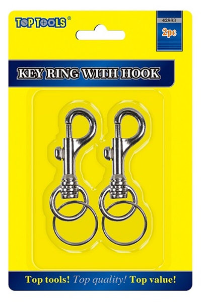2 Piece Key Ring With Belt Hook the ideal solution to keep your keys securely fastened to your belt.
