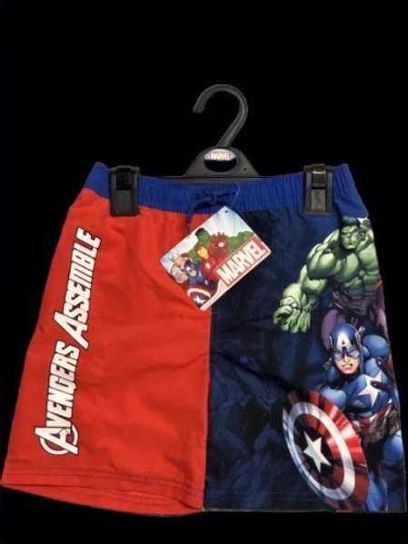 Marvel Avengers Assemble Boys Swimming Trunks Complete with mesh lining, elasticated and tie waist