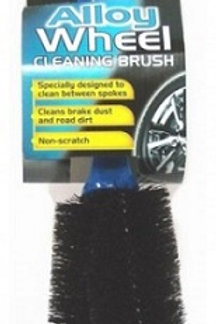 The car pride alloy & steel wheel brush is specially designed to clean between spokes and help you keep wheels looking new