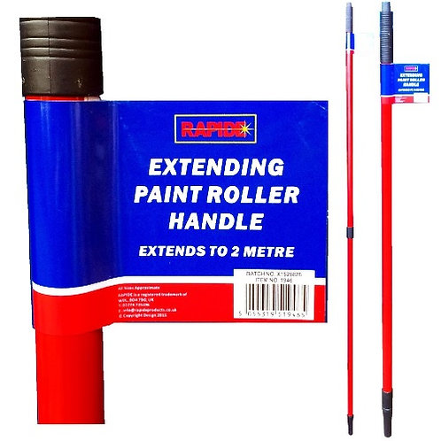 Extending 2 Metre Handle for use with paint rollers or brushes for those high up areas