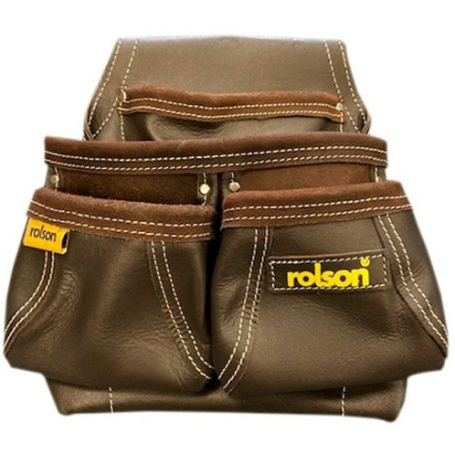 Farmer's Tool Belt manufactured from oil-tanned leather, 2 large main pockets, 2 small wide access pockets