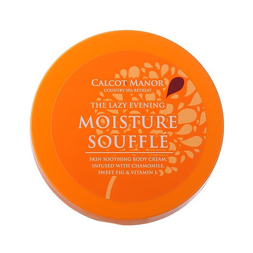 Calcot Manor The Lazy Evening Moisture Souffle, skin-soothing body cream, infused with chamomile. sweet fig and vitamin E