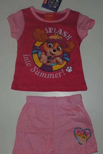 Girls Nickelodeon Paw Patrol Splash Into Summer Shorts & T-Shirt Set