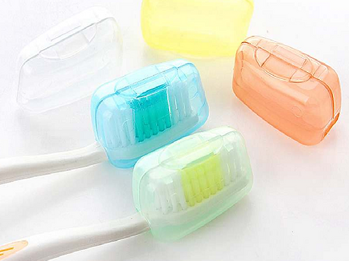 Toothbrush Head Covers for travelling, hiking, camping use to protect your toothbrush head, keeping it clean