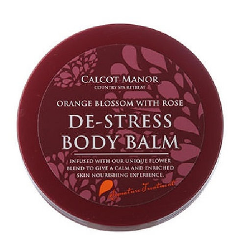 Calcot Manor Country Retreat, De-Stress Balm orange blossom with rose. Enriched with a unique flower blend to give calm