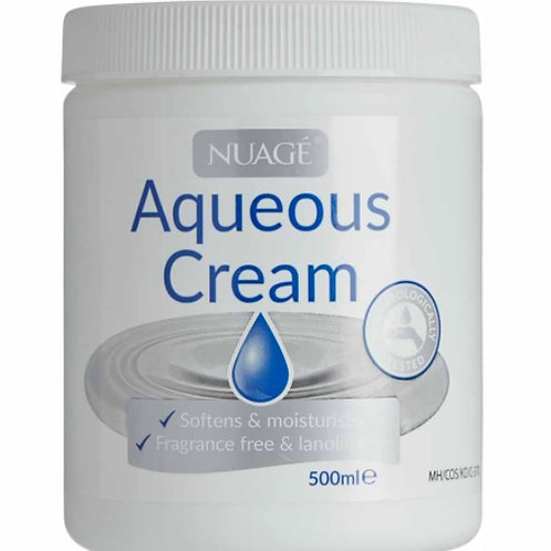 Aqueous Cream Softens,  Moisturises Skin, Fragrance and Lanolin Free can be used as a moisturiser to soften and soothe