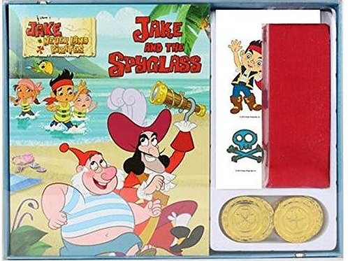 Jake And The Spyglass Read and Play Pirate Set read the adventure story of Jake and the Never Land Pirates