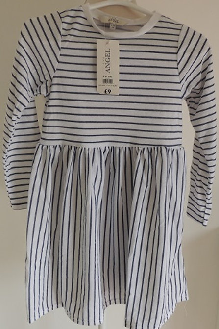 Blue and White Striped Dress in sizes 4-5 Years / Height 104-110cm, 5-6 Years / Height 110-116cm