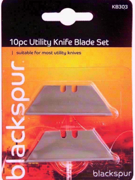 10 Piece Utility Knife Blade Set suitable for most standard Stanley knives and utility knives