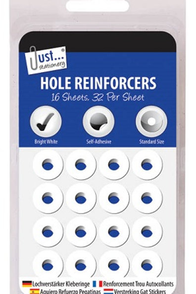 Hole Reinforcers to strengthen paper when filing in lever arch files