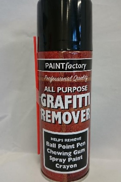Graffiti Remover designed to help remove unsightly or unwanted stains, writing, graffiti, marks caused by spray paints